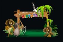 Madagaskar 3D Birthday Themes-9