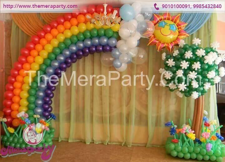 Balloons Birthday Wall Decorations Themes 12